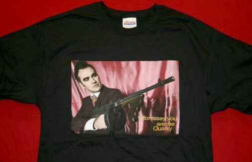 Morrissey T-Shirt Tommy Gun Black Size Large