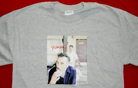 Morrissey T-Shirt Yummy Gray Size Medium