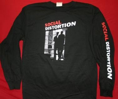 Social Distortion Long Sleeve T-Shirt Skeleton Black Size Large