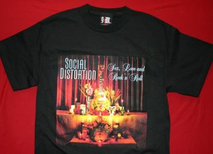 Social Distortion T-Shirt Album Cover Black Size Small