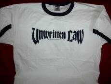 Unwritten Law Ringer T-Shirt Letters Logo White Size XL