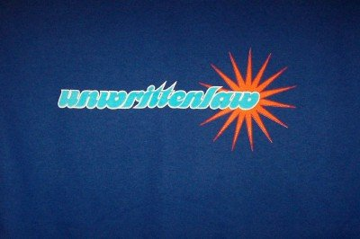 Unwritten Law T-Shirt Star Logo Blue Size XL