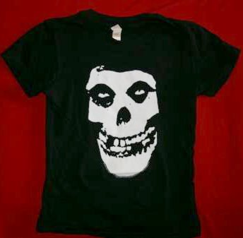 Misfits Babydoll T-Shirt Skull Black Size Medium