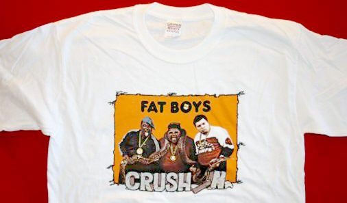 Fat Boys T-Shirt Crushin' Group Photo White Size XL