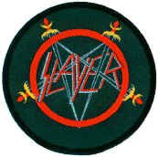 Slayer Sew On Patch Pentagram Swords Circle