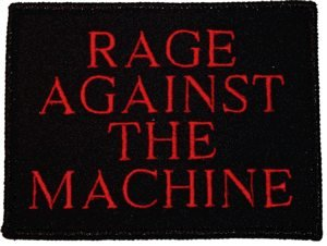 Rage Against The Machine Iron-On Patch Red Letters Logo