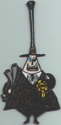Nightmare Before Christmas Iron-On Patch Happy Mayor