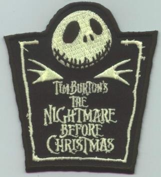 Nightmare Before Christmas Iron-On Patch Jack Glow