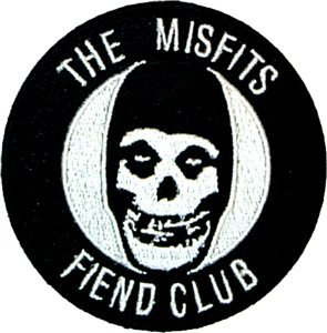 Misfits Iron-On Patch Fiend Club Skull