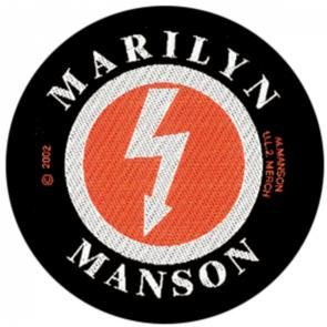 Marilyn Manson Sew On Patch Circle Shock Logo