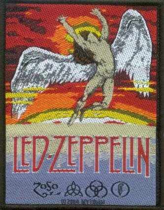 Led Zeppelin Sew On Patch Swan Song Logo
