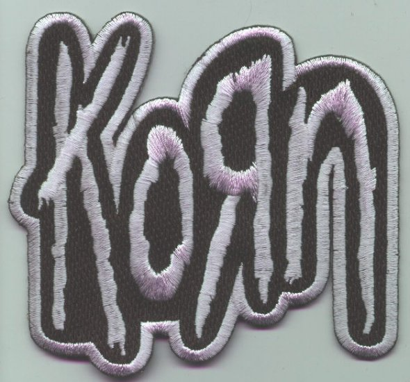 Korn Iron-On Patch Silver Letters Logo