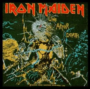 Iron Maiden Sew On Patch Live after Death