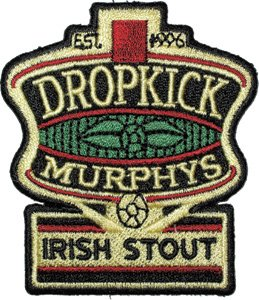 Dropkick Murphys Iron-On Patch Irish Stout Beer
