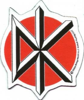 Dead Kennedys Sew On Patch Die Cut Logo