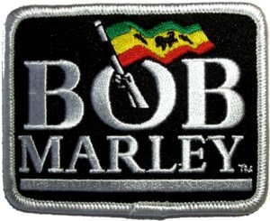 Bob Marley Iron-On Patch Flag Logo