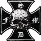 Black Label Society Iron-On Patch Iron Cross Logo