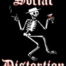 Social Distortion Vinyl Sticker Rectangle Skeleton