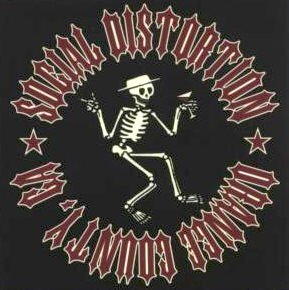 Social Distortion Vinyl Sticker Orange County