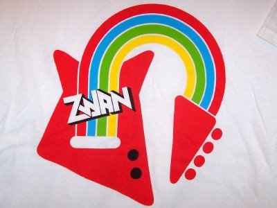 Zwan T-Shirt Rainbow Guitar Tour White Size Large