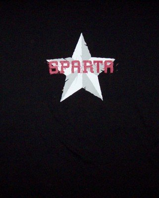 Sparta T-Shirt Star Logo Black Size XL