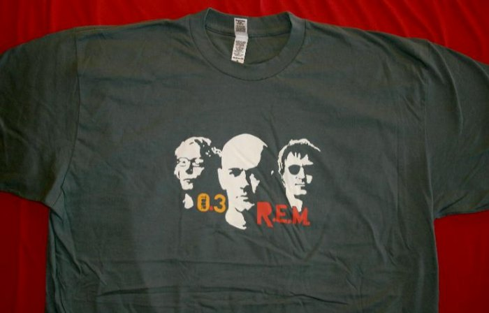 REM T-Shirt Trio 2003 Tour Gray Size XL