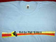 Red Hot Chili Peppers T-Shirt Distressed Logo Blue Size XL