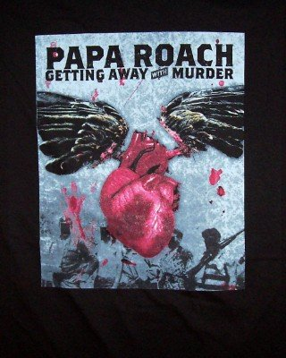 Papa Roach T-Shirt Getting Away with Murder Black Size XL