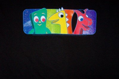 Gumby Pokey Prickle T-Shirt Black Size Youth Large