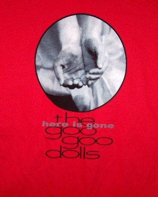 Goo Goo Dolls T-Shirt Here is Gone Red Size Large