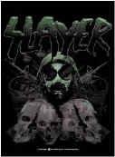 Slayer Vinyl Sticker Gas Mask Skulls Logo