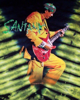 Carlos Santana T-Shirt Supernatural Tie-Dye Size Medium