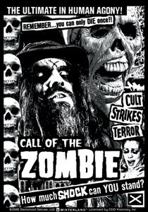 Rob Zombie Vinyl Sticker Call of the Zombie