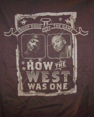 Snoop Dogg The Game T-Shirt West Tour Brown Size Medium