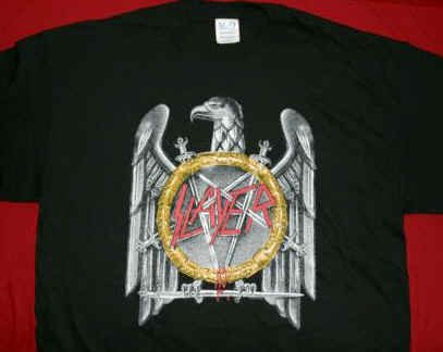 Slayer T-Shirt Eagle Pentagram Black Size Large