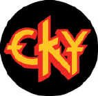 CKY Vinyl Sticker Circle Letters Logo