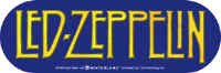 Led Zeppelin Vinyl Sticker Oval Letters Logo