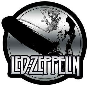 Led Zeppelin Vinyl Sticker Chrome Blimp Logo