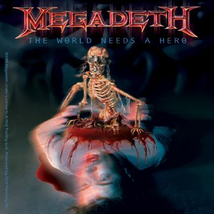 Megadeth Vinyl Sticker The World Needs a Hero