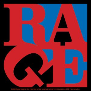 Rage Against the Machine Vinyl Sticker Block Letters Logo