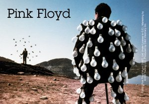 Pink Floyd Vinyl Sticker Light Bulb Man Logo