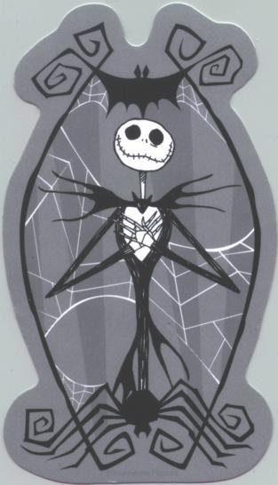 Nightmare before Christmas Vinyl Sticker Jack Web