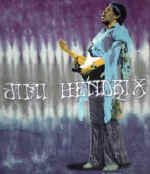 Jimi Hendrix T-Shirt Playing Guitar Tie-Dye Size Large