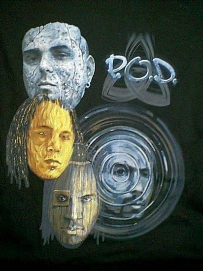 POD T-Shirt Southtown Black Size Large