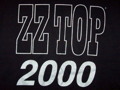 ZZ Top T-Shirt Millenium 2000 Black Size Large