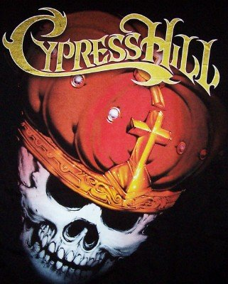 Cypress Hill T-Shirt Skull Tour Black Size Medium
