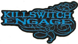 Killswitch Engage Iron-On Patch Blue Letters Logo