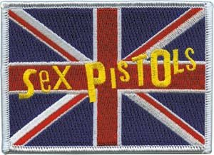 Sex Pistols Iron-On Patch British Flag Logo