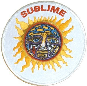 Sublime Iron-On Patch Sun Circle Logo