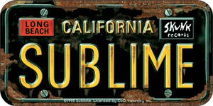 Sublime Vinyl Sticker California License Plate